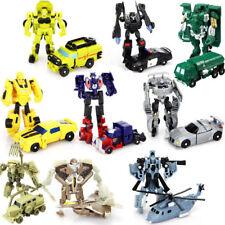 9pcs Transformers Desert Optimus Prime Action Figures Kids Boy Robot Playset Toy