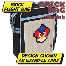 Ladrillo bolsa de vuelo-Negro Y Azul-Construcción Escolar bolso del bolso de viaje