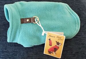 Gooby Fleece Dog Vest/Harness Turquoise XS *NWT*