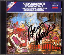 Bernard HAITINK Signed SHOSTAKOVICH Symphony 5 Concertgebouw CD Schostakowitsch