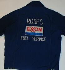 VINTAGE EXXON SERVICE ATTENDANT JACKET! ROSE'S FUEL SERVICE! ZIP-OUT LINER! L