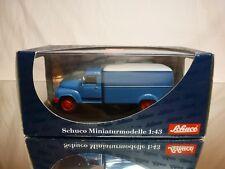 SCHUCO 2931 HANOMAG L28 - KOFFER LKW - BLUE 1:43 - EXCELLENT IN BOX