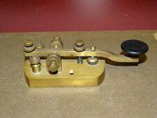 Signal Electric Company Brass Straight Telegraph Key, 1920s