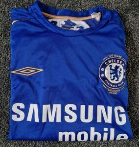 Chelsea FC Home Shirt Centenary Season 2005, By Umbro - M/ Used