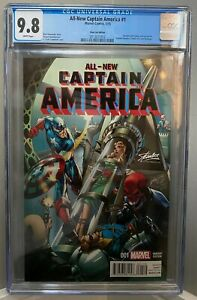 ALL-NEW CAPTAIN AMERICA 1 STAN LEE EXCLUSIVE Campbell variant CGC 9.8 NO RESERVE