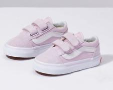 Vans Toddlers Old Skool V(Suede) Lavender Fog/ True White All Sizes 4-10