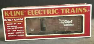 "O Scale K-Line ""The Super Chief California"" Santa Fe  #64238- Classic Box Car"