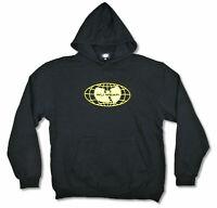 Wu-Tang Clan Wu Wear Globe Bat Logo Black Pullover Sweatshirt Hoodie Official
