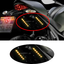 1PC 6 LED Flexible Strip Led Motorcycle Turn Signal Universal Amber Light Strip