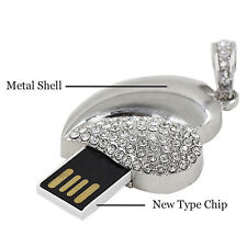 Crystal Diamond Heart Pen Drive 8GB USB 2.0 Memory Stick Flash Drive Thumb Drive