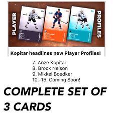 2018 PLAYER PROFILES BASE KOPITAR/NELSON/MIKKEL SET 3 Topps NHL Skate Digital