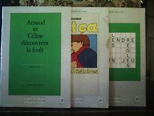 Vintage Soft Cover Lot of 3 French Books L'école des Loisirs Atelier de Lecture