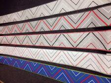 Vintage 80s Geometric Modern Wallpaper Border 10 Metres 5 Colourways