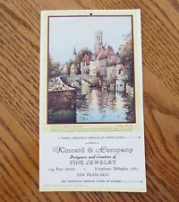 1946 Merry Christmas Shopping Message Card Kincaid Fine Jewelry San Francisco CA