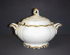 EDELSTEIN BAVARIA MARIA THERESIA COVERED SOUP TUREEN GOLD TRIM PATTERN 5965