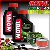 Inspection Set 2L Oil MOTUL 5100 10W40 + Oil Filter Kawasaki KLX 250 R 1993