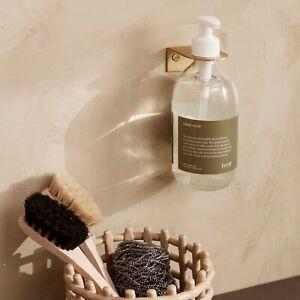 Ferm Living Basho Soap Pump Wall Holder, Brass