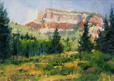 Tim Diebler Untitled Butte Western Landscape Signed Framed Original Oil Painting