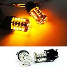 2x 3157 3156 Amber 40 LED Front Turn Signal Light For Chevrolet Silverado Camaro