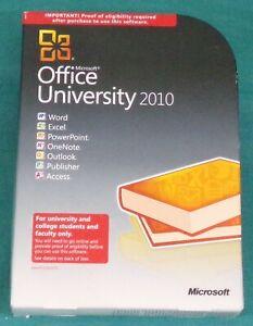 Microsoft Office University 2010 (Retail (License + Media)) (2 Computers/1 User)