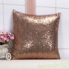 Glitter Pillow Cover Sequin Sofa Waist Throw Cushion Case Home Car Decor Supply