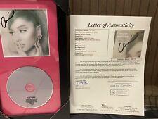 Ariana Grande signed positions cd cover Custom Framed James Spence JSA Certified
