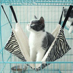 Pet Cat Hammock Leopard Pattern Plush Hanging Mat Double-sided Comforter S - XL