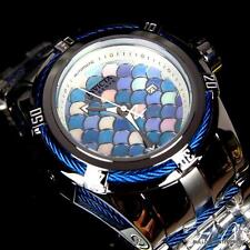 Invicta Reserve Bolt Zeus Swiss Made Blue MOP Scale Automatic Steel Watch New