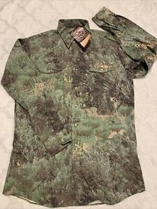 Conk's Camo Faded Sage Long Sleeve Button Men's M Tall New