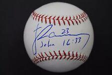 James Ramsey Indians Cardinals  Florida State Autographed MLB Baseball E