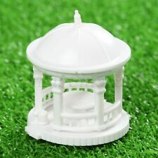 2x White 25mm Pavilion Model 1 150 Scale Circular Gloriette Chinese Construction