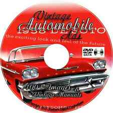 Vintage Rare Auto Car Ads Posters Ford Chevy Jeep Cadillac Buick Collectible DVD