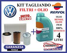 KIT TAGLIANDO OLIO MOTORE REPSOL ELITE 5W30 4LT + FILTRI VW POLO V 1.6 TDI
