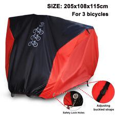 Mountain Bike Bicycle Cover Outdoor Rain Waterproof Cycle Storage Red For 3 Bike