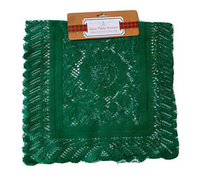 """LACE TABLE RUNNER GREEN 30"""" x 15"""" HOME DECOR"""