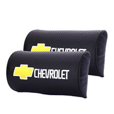 2x Carbon Fiber car Headrest Pillow Seat Neck Rest Auto Cushion for Chevrolet
