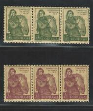 Portugal Stamps 1951 Fishery Congress   731-732 MNH OG STRIP x3 (Complete Issue)