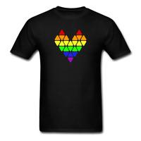 Pride Heart (Geometric Gay Pride) T-Shirt