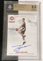 Zach Collins 2017-18 ENCASED ROOKIE NOTABLE SIGNATURES RED /25 - BGS 9.5 GEM MNT