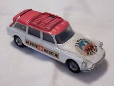 CORGI TOYS CITROEN SAFARI ALPINE RESCUE W/ SLED - MADE GT BRITAIN - WHITE W/ RED