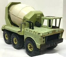 TONKA MIGHTY CEMENT MIXER Vintage Ready Mixer Rare Lime Green Yellow Works -Read