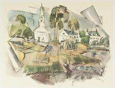 "Phippsburg Maine Church Fields | 16x12"" 1950s Print by John Marin (1870-1953)"