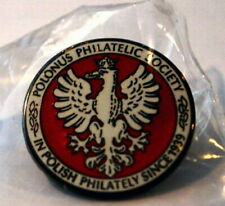Polonus Philatelic Society lapel pin. New