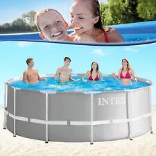 Metal Frame Schwimmbecken Swimming Pool Schwimmbad Stahlwand Intex 366x122 neu