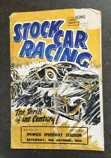 More details for vintage ipswich stock car programme 8th october 1955 **extremely rare**