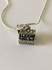 10 x Silver Plated Necklaces With Treasure Chest Charm Ideal Party Bag Gifts