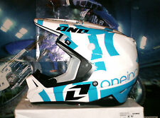 One Industries gamma TXT 1 Cross casco enduro quad Yamaha YZ-f azul blanco XL Thor