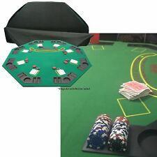 Poker Table Top Convenient Folding Large Design with Drink Holders Chip Trays