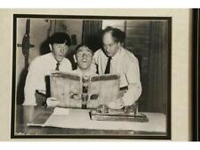 """""""Three Stooges"""" Framed Photo With Checks Lot 150"""