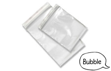 Grip Seal Bags Clear Poly Plastic Resealable Zip Lock - Small, Medium & Large